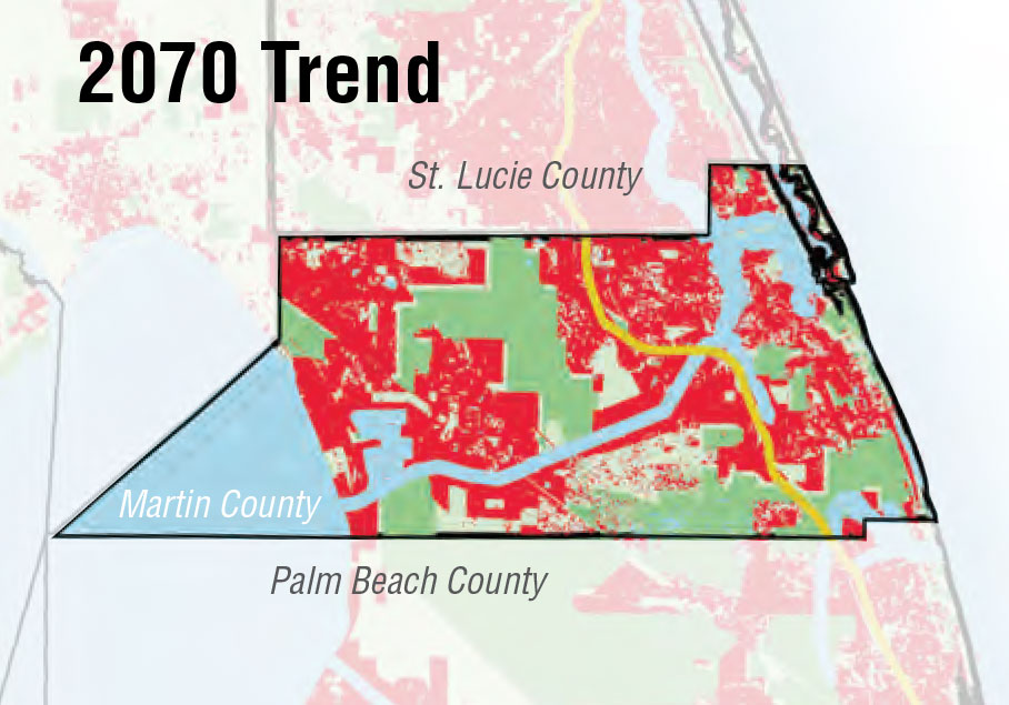 Martin County 2070 trend