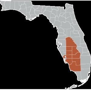 Southwest Central Map
