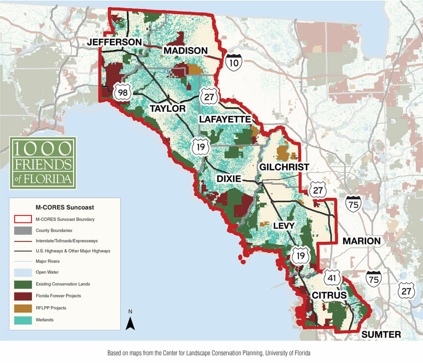 M-CORE Suncoast Wetlands Map