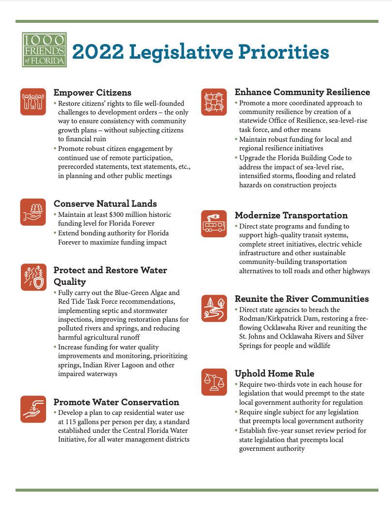 2022 legislative priorities